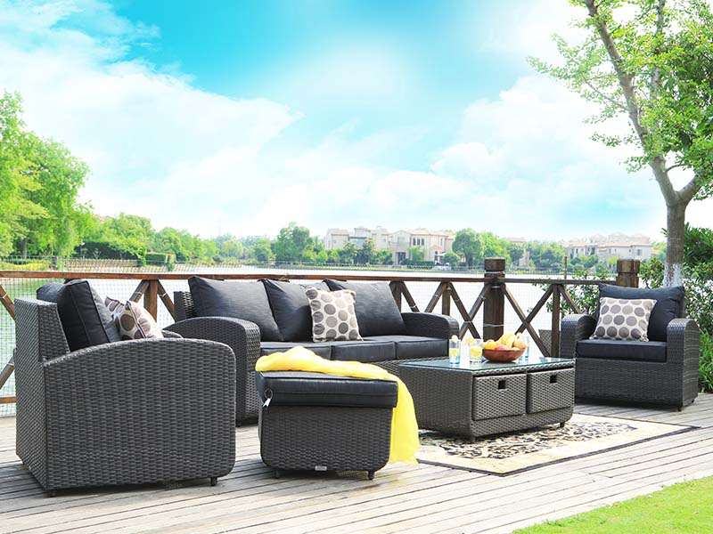 patio rattan sofa