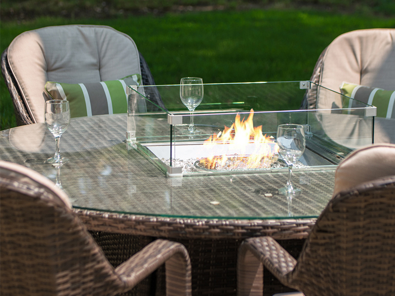 gas fire pits tables