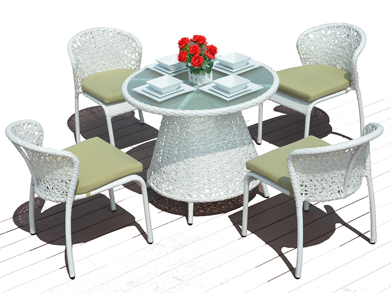rattan wicker dining table