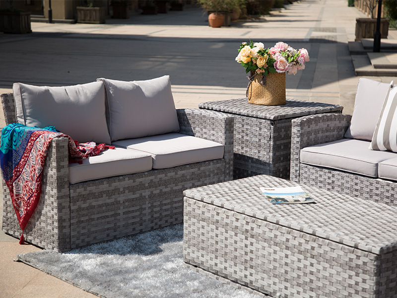 patio wicker sofa