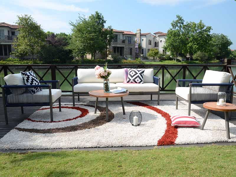 elegante luxo todos os climas jardim ao ar livre conjunto ...